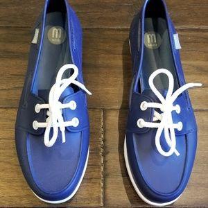 Melissa Navy Water Resistant Boat Shoe 7